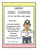 LEAD21 First Grade Spelling ABC Order (2nd letter & beyond) Literacy Center!