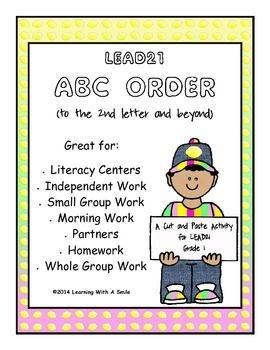 LEAD21 First Grade Spelling ABC Order (2nd letter & beyond