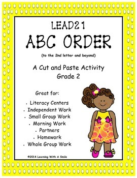 LEAD21 Second Grade ABC Order (2nd letter and beyond) Cut