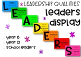 LEADERS Display - Leadership Qualities Posters
