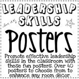 LEADERSHIP SKILLS POSTERS ~ Black & White
