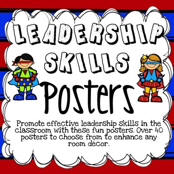 LEADERSHIP SKILLS POSTERS ~ HERO THEME