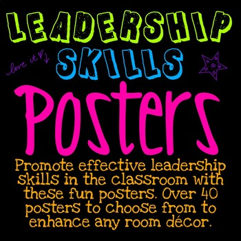LEADERSHIP SKILLS POSTERS ~ NEON