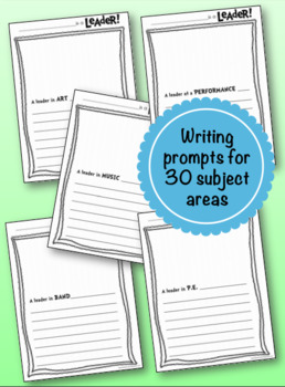LEADERship Writing Pages for Special Areas & Fine Arts: print  & GO! (30 total)
