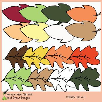 LEAF Clip Art (Karen's Kids)