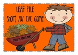 LEAF PILE - A short /a/ CVC Center