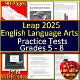 LEAP 2025 Test Prep - Google Tests - English Language Arts Grades 5, 6, 7 + 8