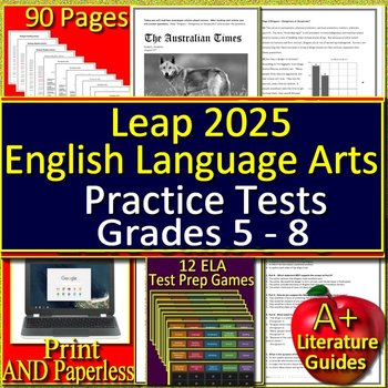 LEAP 2025 Test Prep - Practice Tests and Games Bundle - English Language Arts