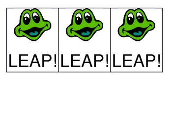 LEAP! Blends nonsense word game