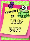LEAP DAY FUN!