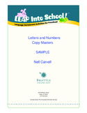 LEAP Into School! Letters and Numbers Copy Masters (A-L) Samples