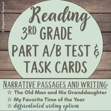 LEAP, PARCC, Standardized Practice Test & Task Cards: Narrative Focus Grade 3