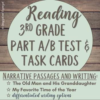 LEAP, PARCC, Standardized Practice Test & Task Cards: Narr