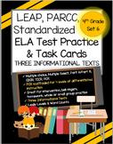 LEAP, PARCC, Standardized Test Practice & ELA Task Cards Set 6- Grade 4