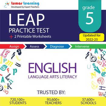 LEAP Practice Test, Worksheets - 5th Grade English Language Arts(ELA) Test Prep