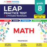 LEAP Practice Test, Worksheets - 8th Grade Math Test Prep