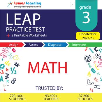 LEAP Practice Test, Worksheets - 3rd Grade Math Test Prep