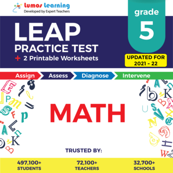 LEAP Practice Test, Worksheets - 5th Grade Math Test Prep
