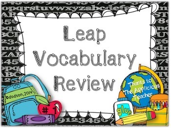 LEAP Vocabulary Powerpoint 1