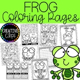 {FREE} Frog Coloring Pages (+writing papers)