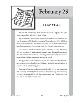 LEAP YEAR (FEBRUARY 29)