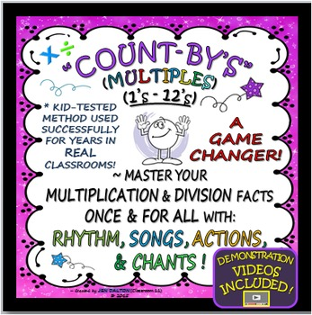 MULTIPLICATION  FACTS MASTERY(& DIVISION)W/ CHANTS,ACTIONS