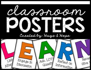 LEARN Poster Set (Brights)