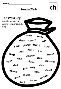 LEARN THE CH WORDS