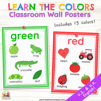 LEARN THE COLORS – Classroom Wall Posters