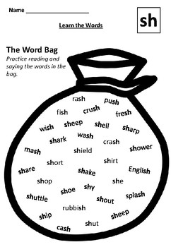LEARN THE SH WORDS