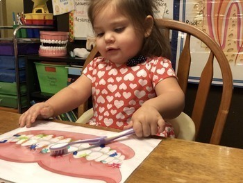 BRUSH YOUR TEETH LEARN TO CLEAN YOUR TEETH - DRY ERASE ACTIVITY FOR PRESCHOOLERS
