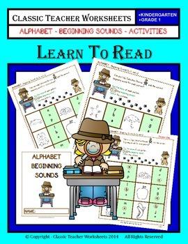 Beginning Sounds-Beginning Sounds Activities-Kindergarten