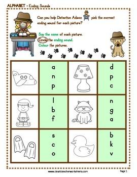 Ending Sounds - Ending Sounds Activities - Kindergarten to Grade 1 (1st Grade)