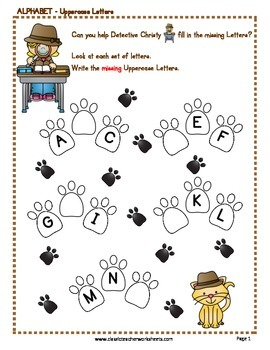 Order of Letters - Uppercase Letters - Kindergarten Grade 1 (1st Grade)