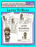 Letter Recognition - Cut & Paste - Kindergarten to Grade 1 (1st Grade)
