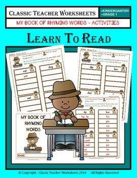 Rhyming Words - My Book of Rhyming Words - Kindergarten to Grade 1 (1st Grade)