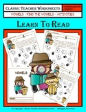 Vowels - Find the Vowels Activities - Kindergarten to Grade 1 (1st Grade)