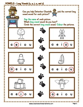 Long Vowels - Long Vowels Activities - Kindergarten to Grade 1 (1st Grade)