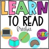 LEARN to Read Freebie