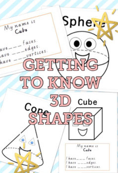 LEARNING 3D SHAPES ACTIVITY WORKSHEETS