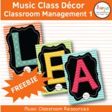 Music Class Decor - Classroom Management FREEBIE