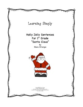 LEARNING SIMPLY - HOLLY JOLLY SENTENCES FOR 1st grade