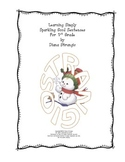 LEARNING SIMPLY - SPARKLING SNOWMAN SENTENCES FOR 1ST GRAD