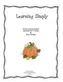 LEARNING SIMPLY- WRITING GLOWING PUMPKIN SENTENCE