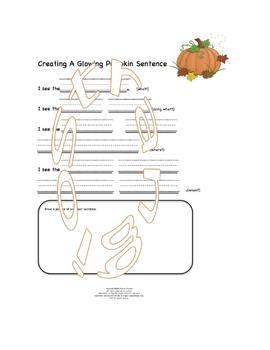 LEARNING SIMPLY- WRITING GLOWING PUMPKIN SENTENCE