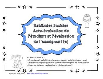 LEARNING SKILLS (French)self-assessment and teacher assessment