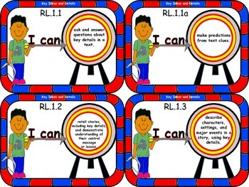 LEARNING TARGET 3.75x5 inch CARDS for First Grade ELA and Mathematics