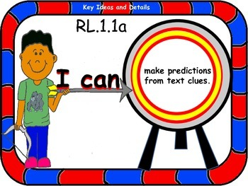 LEARNING TARGET POSTERS for First Grade English Language Arts and Mathematics