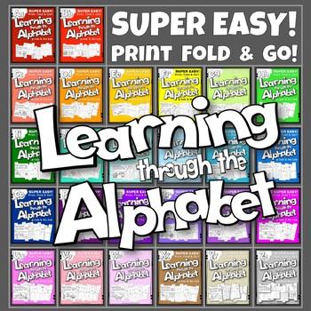 LEARNING THROUGH THE ALPHABET – A to Z ACTIVITY BOOK BUNDLE