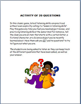 LEARNING TO ACTIVELY LISTEN- lesson and 3 activities